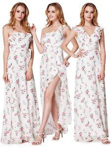 Ever-Pretty Long Bridesmaid Dresses Sleeveless Split Party Summer Dress Gown