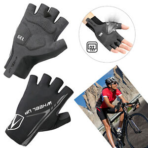 Road Mountain Bike Cycling Half Finger Gloves MTB BMX Bicycle Riding Fingerless