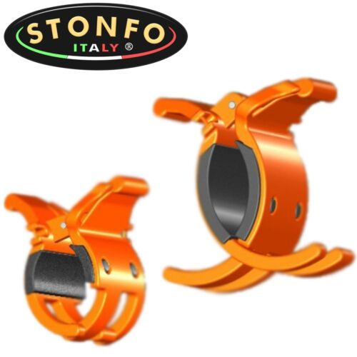 14-33mm orange Stonfo Rutenclip 6-22mm 2 Rutenclips für Forellenvorfächer
