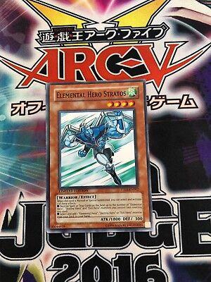 Elemental Hero Stratos PHARAOH TOUR COMMON Yugioh PT03-EN002 ENGLISH m//nm