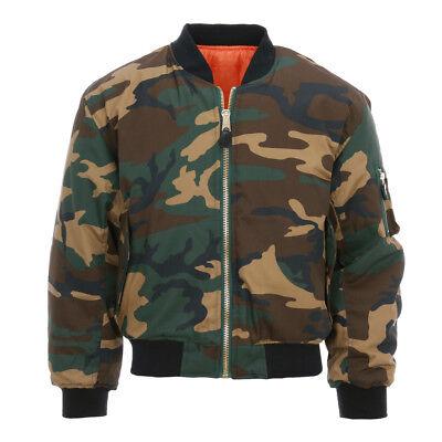 Consegna Veloce Giubbotto Bomber Ma-i Flight Camouflage Bosco Vo 1214031 Materiali Di Alta Qualità Al 100%