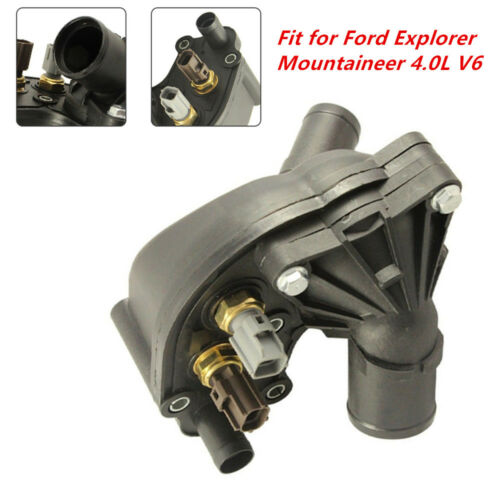 Latest Thermostat Housing with Sensors Fit for Ford Explorer Mountaineer 4.0L V6