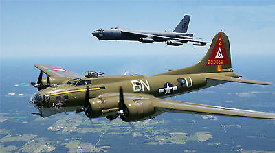"""B-52 BOMBER MILITARY AIR FORCE 19.5/"""" x 43/""""  LARGE HD WALL POSTER PRINT"""
