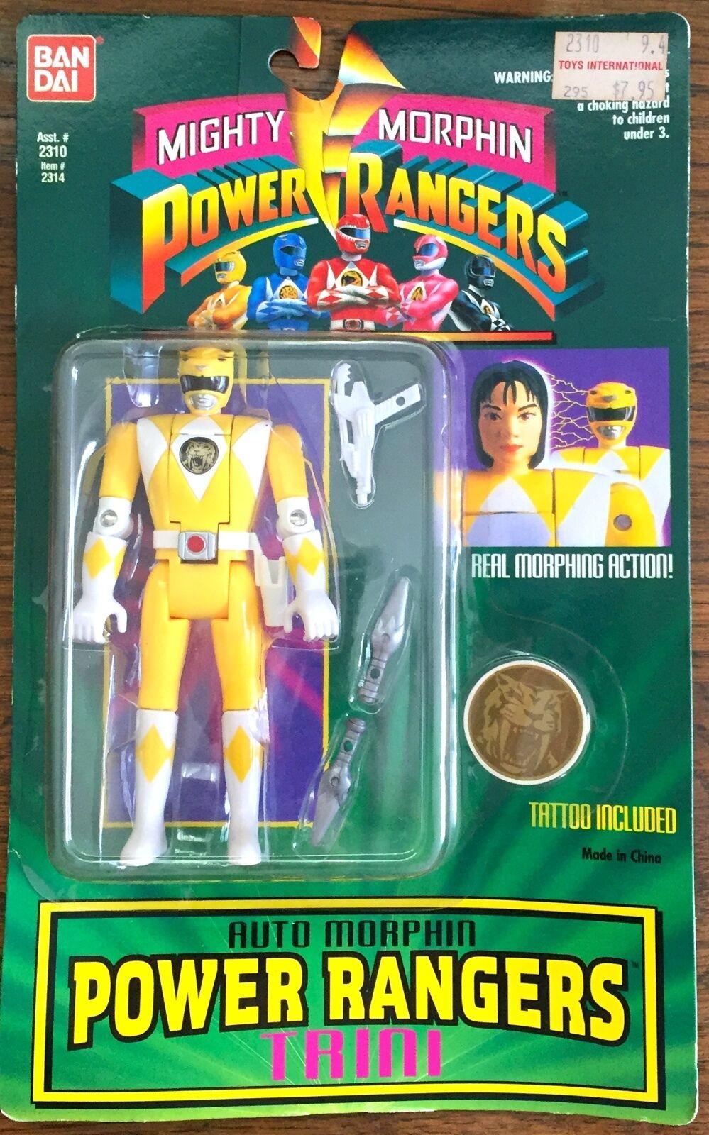 1994 Mighty Morphin Power Power Power Rangers Trini Toy Action Figure New, Bandai MOC b20e0c