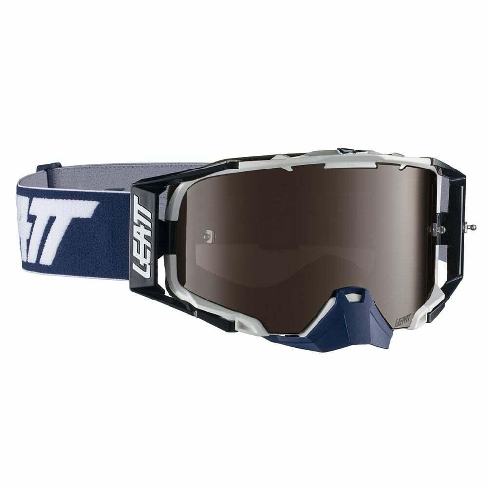 Leatt 2019 Velocity 6.5 Iriz Tear Off Goggles with Platinum Lens - Ink  blanc