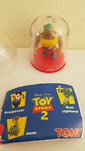 Vintage Disney TOY STORY 2 tomy ROCKY GIBRALTAR Figure In Dome TINY TREASURES fp