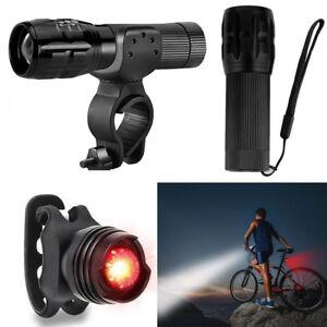 led fahrradbeleuchtung fahrradlampe fahrradlicht set vorne hinten super hellw ebay. Black Bedroom Furniture Sets. Home Design Ideas