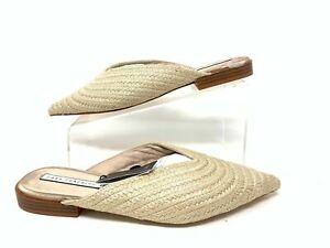 Zara-Chaussures-Mules-Jute-Plats-UK4-EUR37-US6-5