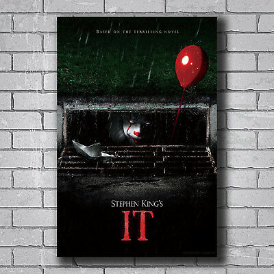 W470 2017 IT Movie Stephen King Pennywise Hot Wall Poster Art 20x30 24x36IN