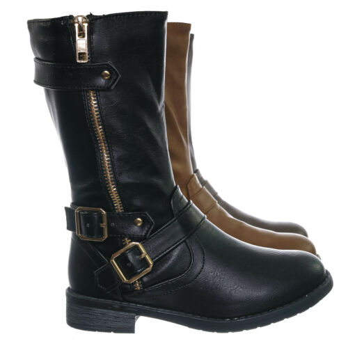 Kids Girls Steampunk Riding Shoe Justina52K Children/'s Engineer Harness Boots