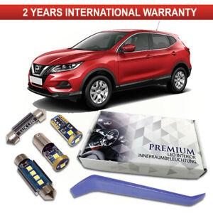 Nissan-Qashqai-J11-Led-Interior-Kit-Premium-8-SMD-Bombillas-Blanco-Libre-De-Errores
