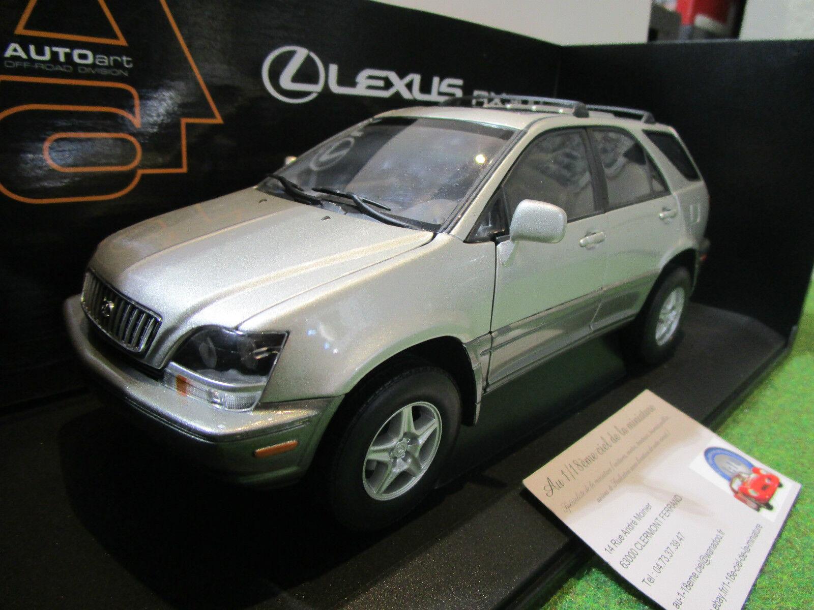 la calidad primero los consumidores primero LEXUS RX RX RX 300 gris plata au 1 18 AUTOART 70031 voiture 4x4 miniature RARE    ofreciendo 100%