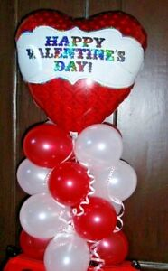 BALLOON TABLE DISPLAY DECORATION AIR FILL NO HELIUM I LOVE YOU VALENTINES