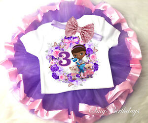 3be552118a6d Doc McStuffins 3rd Third 3 Year Old Baby birthday Tutu Shirt ...