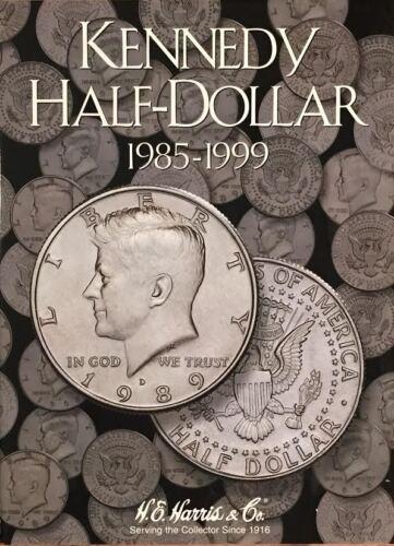 1964-20??  KENNEDY HALF DOLLAR HARRIS // WHITMAN 3-COIN FOLDER SET E H NEW