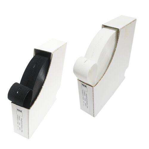 25mm schwarz weiss 1 Rolle YKK Knopfloch Gummiband 20mm