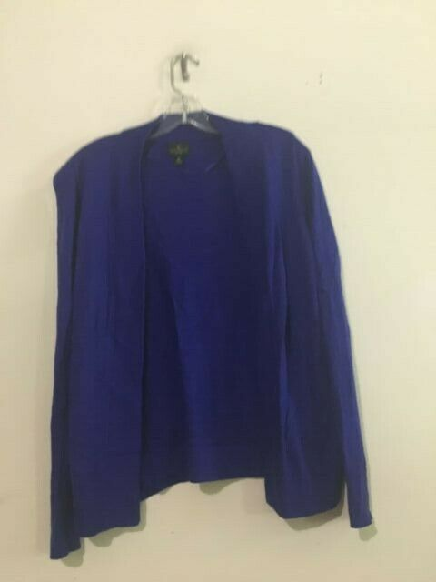 Worthington Royal Blau Cotton Blend Cardigan Sweater oben daMänner Petite Größe PS
