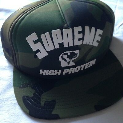 Supreme Hat Cap High Protein Camo Brand New  5468d426cf5