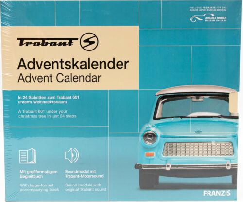Franzis Trabant 601 Adventskalender 2020 Modellauto blau Maßstab 1:43