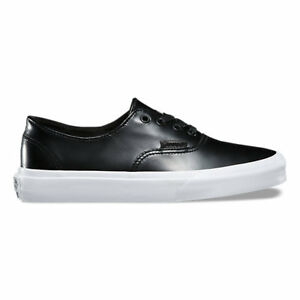 27d9b0b544 Vans Authentic Decon Premium Leather Black Men s Size 7 Women s 8.5 ...