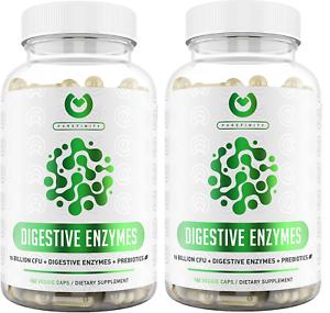 DIGESTIVE ENZYMES 1000MG Plant Based Prebiotics Probiotics 360ct 6/24 Purefinity