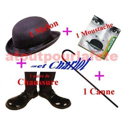 SET DE DEGUISEMENT Charlot,Charlie,Chaplin,Cinéma,Film,Carnaval,Accessoire,Fête