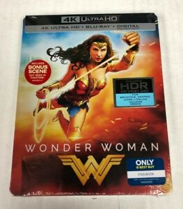 Details About Wonder Woman 4k Ultra Hd Hdr Blu Ray Steelbook Spine Slash Dings Imperfections