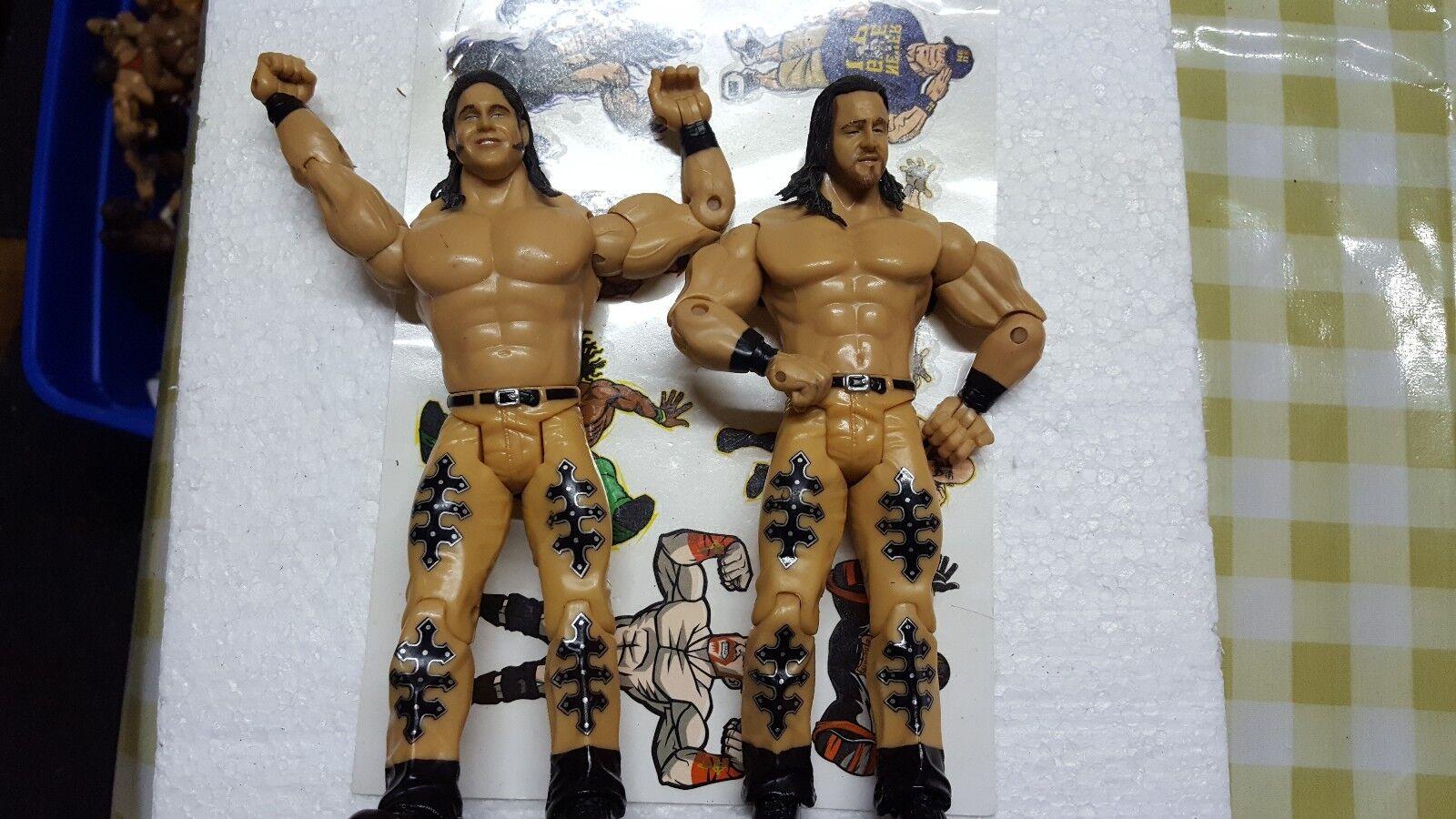 WWE JAKKS figuras cargas elegir su equipo equipo equipo de la etiqueta de franqueo combinado WWF WCW ECW 677a21