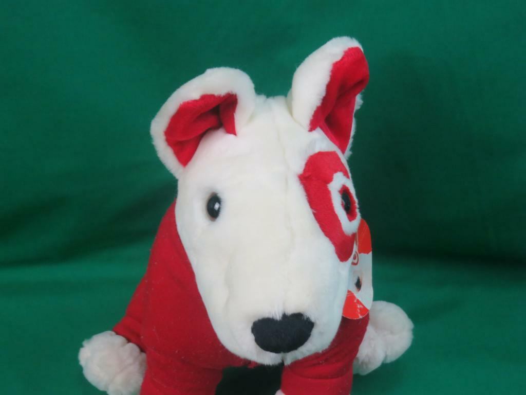 NEW BIG BULLEYE TARGET MASCOT SPOT PUPPY DOG ROT PAJAMAS BUTT FLAP PLUSH STUFFED