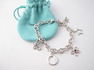 e5b22529a Image is loading Tiffany-amp-Co-RARE-Silver-Gemstone-Nature-Flower-