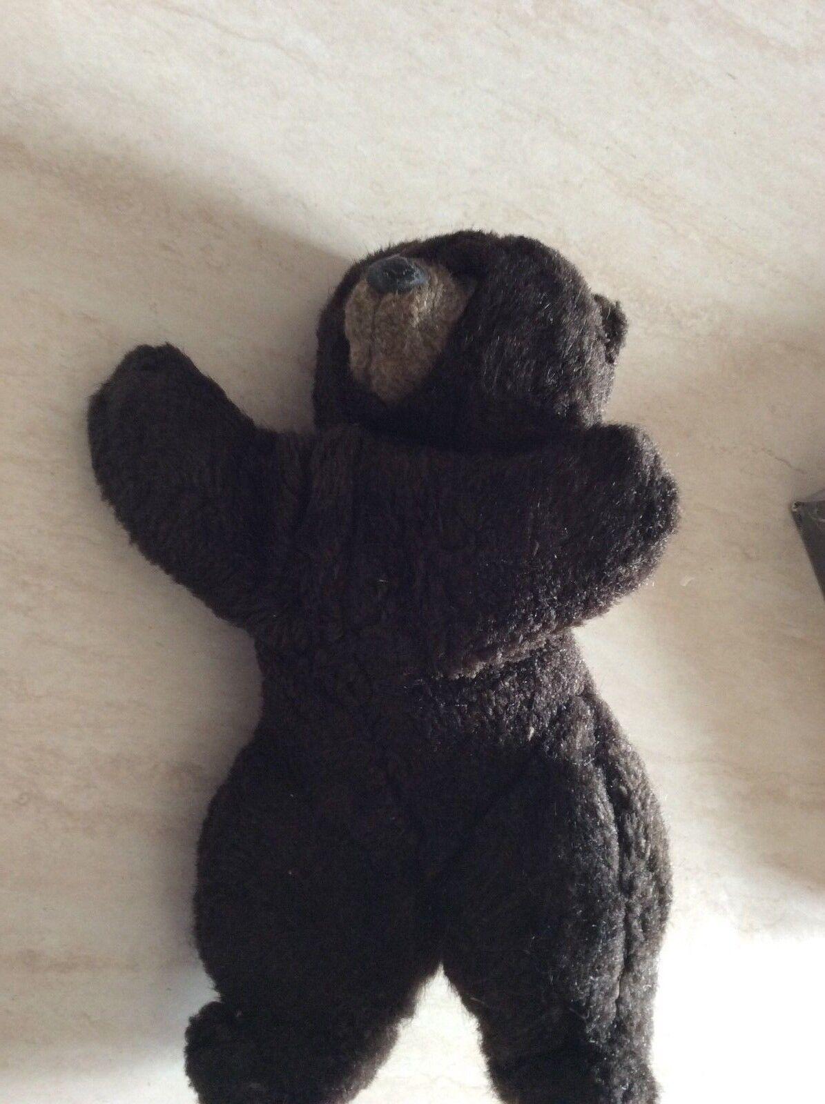 Rarissimo peluche orso bruno lenci torino anni 60 da collezione
