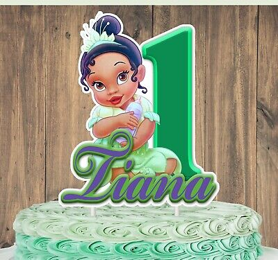 Incredible Princess Tiana Baby Cake Topper Ebay Personalised Birthday Cards Veneteletsinfo