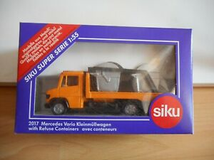Siku-Mercedes-Refuse-Containers-in-Orange-on-1-55-in-Box-Siku-nr-2017