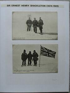 S2078-Ernest-h-Shackleton-Autograph-3-picture-post-cards-ex-Collection-Ledoux