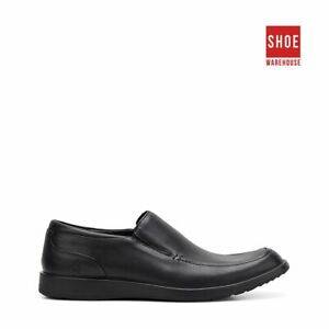 Hush Puppies VITRUS MT SLIP ON Black Mens Lace-up Dress/Formal Leather Shoes
