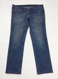 Bell-bottom-jeans-uomo-usato-denim-W42-tg-56-gamba-dritta-boyfriend-T4688
