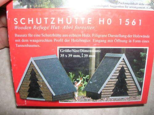 Kleine Schutzhütte für Wald BUSCH H0 HO 1561 in OVP Forst /& Autorast