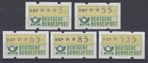 Diplomatique Rfa/bund-distributeur Marques (atm) 1981 Nº 1-vs 4-cachet/**-n (atm) 1981 Nr. 1 - Vs 4 - Postfrisch/**fr-fr Afficher Le Titre D'origine Correspondant En Couleur
