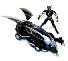 "Power Rangers Jungle Fury 10""  Car & 5"" Black Ranger toy figure set, RARE"