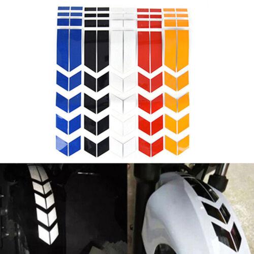 Motorcycle Car Reflective Arrow Striped  Stickers Wheel Fender Waterproof Decals