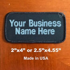 Custom-Embroidered-Patch-Personalized-Name-Tag-Motorcycle-Biker-Badge-Dark-Navy