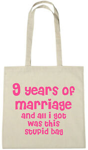 9th Wedding Anniversary Gift.Details About 9 Years Of Marriage Bag 9th Wedding Anniversary Gift Presents For Her Women Wife