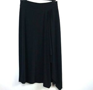Michael-Kors-Womens-Skirt-Size-Small-Black-Asymmetrical-Stretch-Pull-On-66