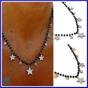 Collana-da-donna-girocollo-in-acciaio-inox-con-stelle-perle-nere-perline-zirconi