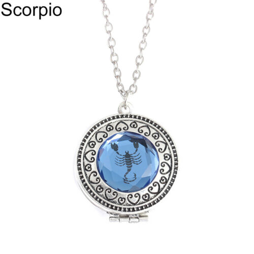 EG/_ LX/_ Vintage Constellation Astrological Signs Pendant Necklace Women Jewelry