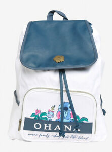 Loungefly Disney Lilo And Stitch scrump Slouch Backpack NWT OHANA MEANS FAMILY