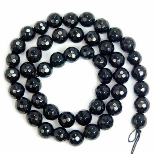 """Nouveau à Facettes Noir Agate Onxy Gemstone Round Loose Beads 15/"""" 4//6//8//10//12//14mm AAA"""