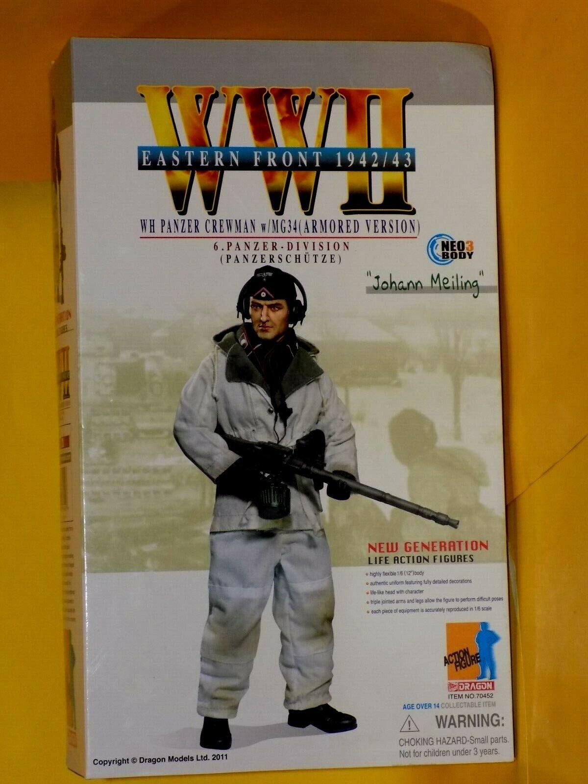 Johann  MEILING (panzerschutze) deuxième guerre mondiale 12  Dragon Action figure 70452 1 6  commander maintenant les prix les plus bas