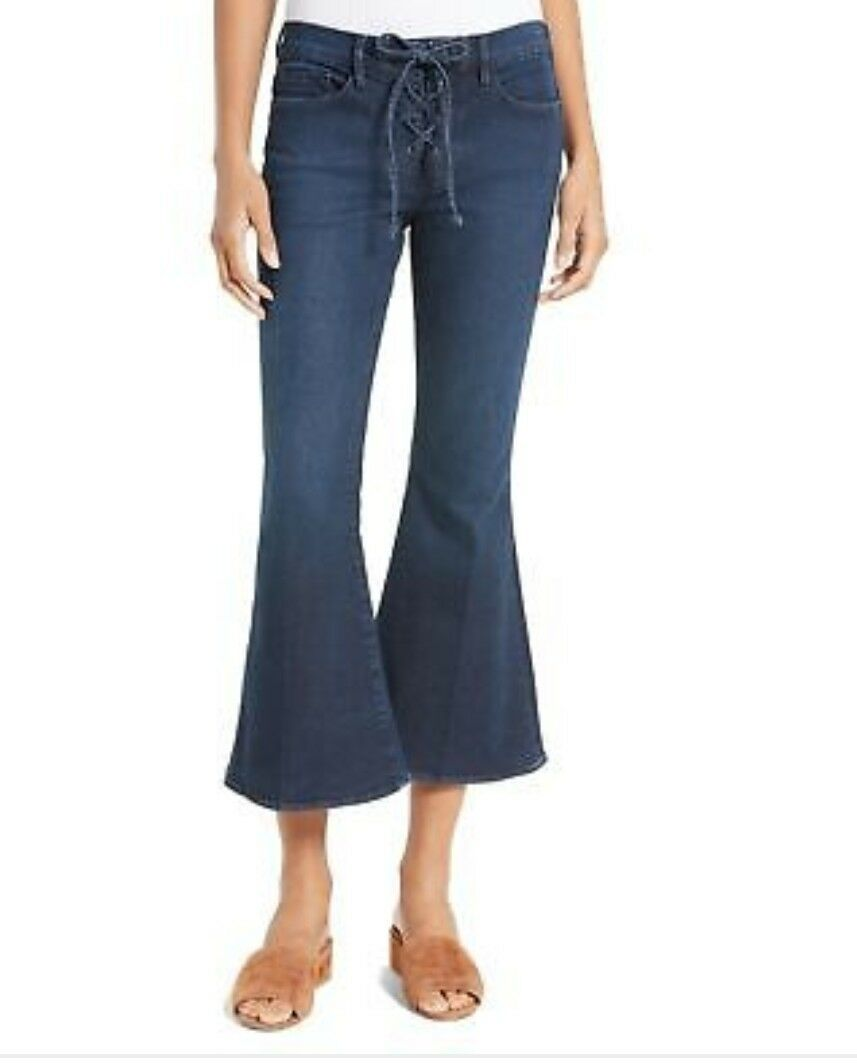 Frame Denim NEW bluee Women's Size 26 Flare Lace Up Stretch Jeans
