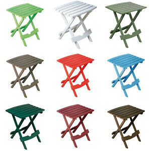 Small Folding Side Table Plastic Waterproof Fishing Beach